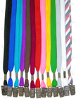 "LY-402-BC 3/8"" Cotton Plain Color Lanyards with Badge Clips LY-402-BC/Per-Piece"