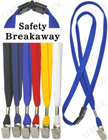 "LY-403-BC 3/8"" Safety Breakaway Blank Lanyards With Badge Clips"