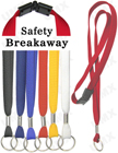 "LY-403-O 3/8"" Safety Break Away Plain Color Lanyards with Key Rings"