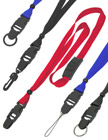 "5/8"" Adjustable & Detachable Safety Plain Lanyards With Detachable Side Release Buckles"