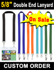 "5/8"" Exhibition Lanyards with Two Badge Clips or Hooks LY-404-DA/Per-Piece"