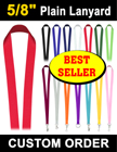 "5/8"" Best Seller Plain Lanyards"
