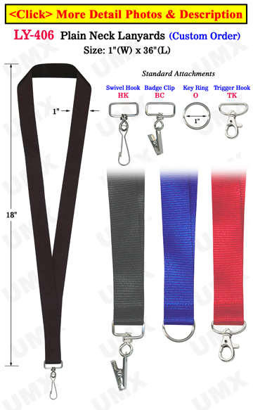 "1"" Big Event Lanyards For ID Badge Holders"