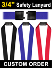 "3/4"" Corporate Safety ID Lanyards with Breakaway Protection LY-507-N/Per-Piece"