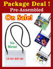 LY-421-BH-180-PACKAGE-DEAL Pre-Assemble Lanyards with Badge Holders LY-421-BH-180-PACKAGE/Per-Set
