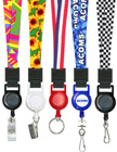 "Printed Retractable Lanyards: With 5/8"" Art Printed Neck Straps"