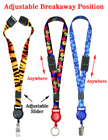 "Retractable Safety Badge Lanyards: with 5/8"" Art Printed Neck Straps"