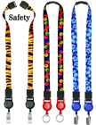 "Two-Ended Printed Retractable Breakaway Neck Lanyards: With 5/8"" Art Printed Straps LY-P-UL-N-DA-RT-21/Per-Piece"