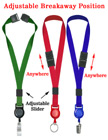 "Retractable Breakaway Lanyards 5/8"" Safety Badge Holder Neck Straps LY-503HD-SL-RT-21/Per-Piece"