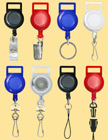 Retractable Reels: With Flat Lanyard Strap Connectors / Adpaters RT-21/Per-Piece