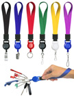 "Retractable Wrist Lanyards: With 5/8"" Heavy-Duty Plain Color Wrist Straps LY-UL-WS-RT-21/Per-Piece"