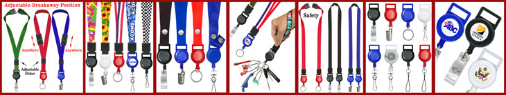 Retractable Lanyards For Neck and Wrist Wear  - Adjustable, Safety Breakaway & Double-Ended Retractable Lanyard Series