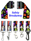 "Security Lanyards:  3/4"" Pattern Printed Security Neck Straps"