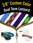 "3/8"" 2 Color Shoelace Custom Woven Lanyards LY-S-38-CUSTOM/Per-Piece"