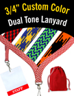 "3/4"" Dual Tone Shoelace Personalized Lanyards LY-S-34-CUSTOM/Per-Piece"