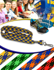 "3/8"" Diamond Stripe Lanyard With Swivel Hook LY-S2-38-HK/Per-Piece"