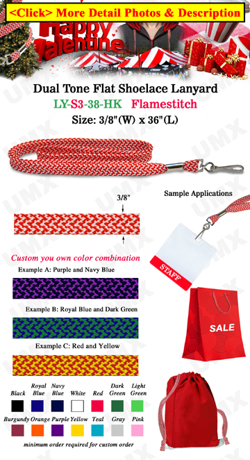 "3/8"" Flamestitch Lanyard With Swivel Hook"