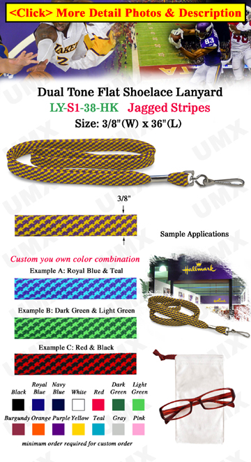 "3/8"" Jagged Stripe Lanyard With Swivel Hook"