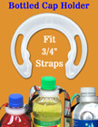 Bottled Cap Holders: Plastic Holders For Bottled Drink Lanyards or Neck Straps Making LY-BCH-34/Per-Piece