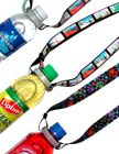 Sports Lanyards:  Bottled Water or Drink Neck Straps: Adjustable Length LY-P-405HD-ABC/Per-Piece