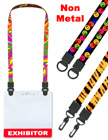 Double-Attachment Neck Lanyard Badge Holders with Pre-Printed Arts LY-P-UL-DA/Per-Piece