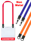 All Plastic Double-Ends Neck Lanyards For Name Badge Holders