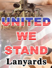 United We Stand Lanyards: Patriotic Camouflage Lanyard Series LY-P14-404HD-UWS/Per-Piece
