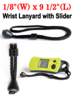 "1/8"" Nylon Round Cord Wrist Lanyard With Rubber Slider"
