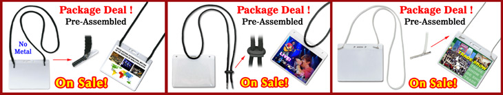 Fast Dispatch: Pre-Assembled:  Lanyards + Badge Holders Combo Package Deal