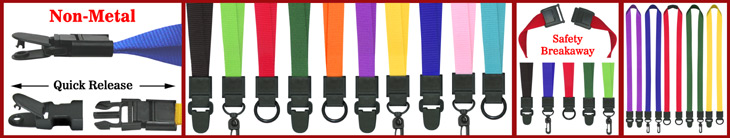 Universal Link Plain Lanyards For Security Access X-Ray Scan Free Name Badges or IDs