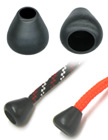 "Round Cone Plastic Cord Ends: Cord End Closure with 1/4""(D, Top Hole) x 3/8""(D, Bottom Hole)"