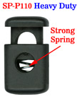 "Heavy Duty Big Cord Locks: Durable & Strong Steel Metal Spring Toggles, Cord Stoppers , One Hole - 6mm(D)=1/4""(D)"