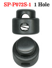 Small Size Cord Locks: Low Profile Cylinder Shape - One Hole Plastic Locks - Sample Order SP-P072S-1/Per-Piece