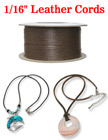 "Thin Leather Cord: By The Spool (Roll) / 300 ft - 1/16"" (D) LC-020/Per-Spool-300Ft"