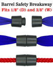 Safety Buckles: Barrel Breakaway Buckles For Round Cords and Flat Straps