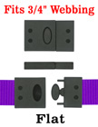 "Safety Plastic Buckles - Big Size Safety Breakaway Buckles - Fit 3/4"" Lanyard Straps LY-CC507HD/Per-Piece"