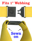 "Sewn-On Large Breakaway Buckles: Heavy Duty Safety Buckles: Fit 1"" Wide Lanyards LY-CC508HD/Per-Piece"