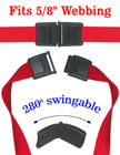 "Swingable Neck Strap Plastic Safety Buckles: Fit 5/8"" Safety Lanyards"