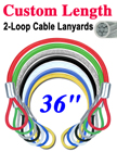"36"" Long Marine Cable Lanyards: With Two  Loops"