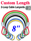 "8"" Mechanic's Cable Lanyards For Parts, Assemblies and Tools"