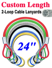 "24"" Stainless Steel Cable Lanyards: Custom Bulk Order"