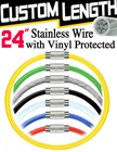 "24"" Vinyl Coated Tether Cable with Safety Protection"