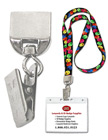 Metal Lanyard Badge Clip Adaptors: Ez-Adjustable Lanyard Strap Connectors+Name Badge Clips
