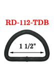 "1 1/2"" Big Size Non-Reflective D-Ring For Outdoor and Military Device"