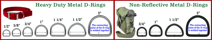 Heavy Duty Steel Metal D-Rings: Bulk Wholesale of Bag Straps, Belts, Dog Leashes & Pet Collars Dee Ring Supplies