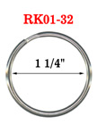 "1 1/4"",  32 mm Big Key Rings:Big Size Key Holders RK-01-32/Per-Piece"