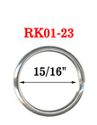 "15/16"",  23 mm Durable Key Rings: Manufacturer Direct Low Cost RK-01-23/Per-Piece"