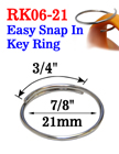 "7/8"", 21mm Easy Split Key Rings: Designed To Add Attachment Easily RK-06-21/Per-Piece"