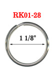 "1 1/8"",  28 mm Heavy Duty Keyrings: Factory Direct Economic Pricing RK-01-28/Per-Piece"