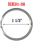 "1 1/2"",  38 mm Large Key Rings: Large Size Keychain Holders RK-01-38/Per-Piece"